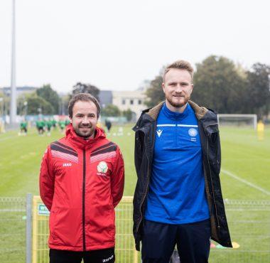 Trenerzy na stażu w Akademii Warty Poznan